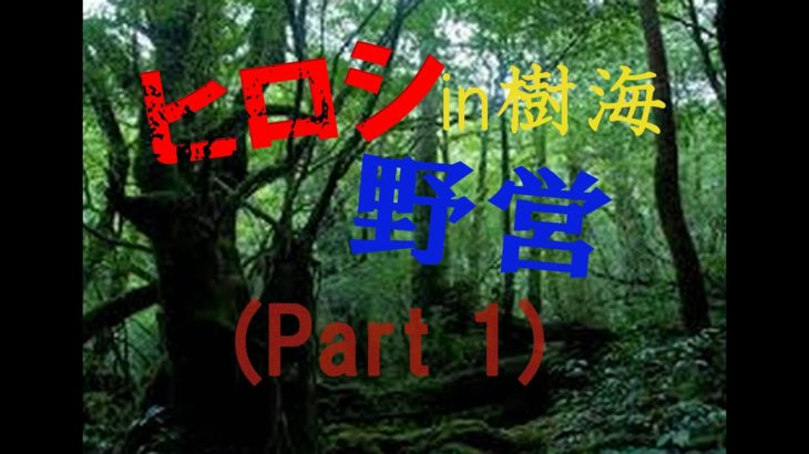 ヒロシ 野営 樹海(part1)