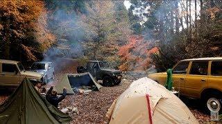 紅葉に薪ストパップテント そして食欲の秋 前編