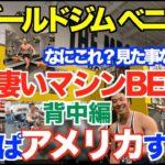 【初見参】日本では見た事がない本場の背中のマシンBEST5をランキング致します。マニアの方も初めての方も解説付きでお楽しみ頂けます。そして、最後にはあの場所へ、、、