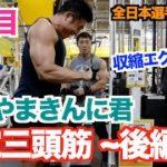 【上腕三頭筋】このフォームは異次元の収縮です。鈴木雅選手の上腕三頭筋、絶対デカくなれる究極の2種目です。