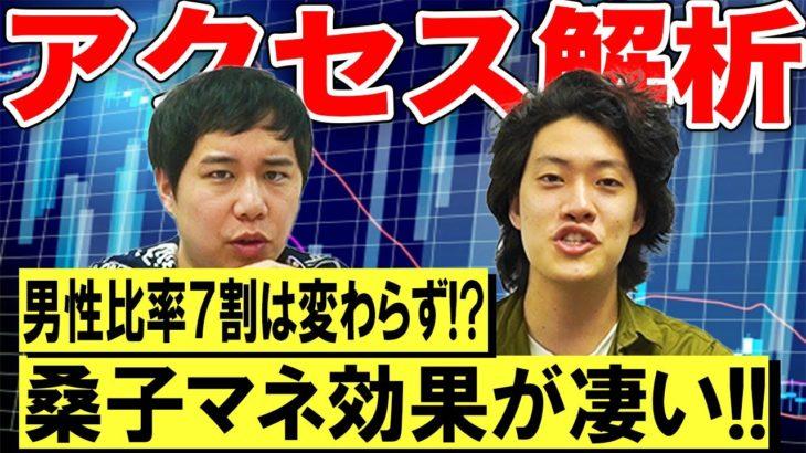 【視聴者分析】桑子マネ動画急上昇で変化は!?男性視聴者が多すぎる!?【霜降り明星】
