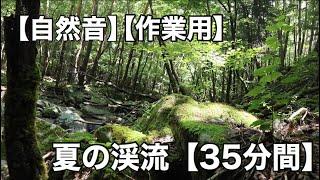 【自然音】夏の川 35分間 ながしっぱ動画