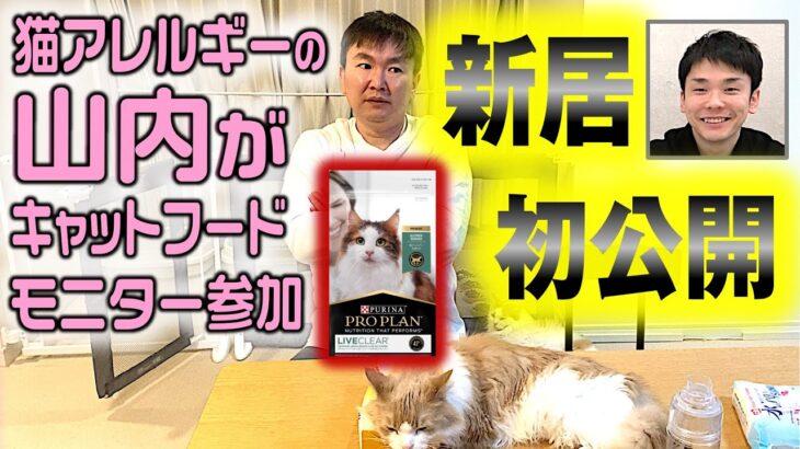 【新居初公開】猫アレルギーのかまいたち山内が自宅で凄いキャットフードを試してみた!