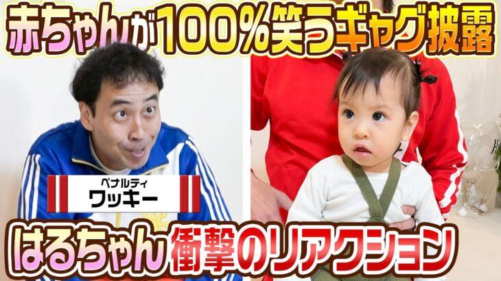 【ワッキーVSはるちゃん】赤ちゃんが100%笑うギャグをはるちゃんにやってみた結果…