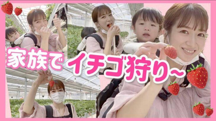 【思い出log】家族でイチゴ狩りに行って大満足!!!【イチゴミルク作り】