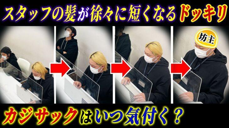 【ドッキリ】チームスタッフの髪が徐々に短くなっていったらカジサックはいつ気が付くのか?