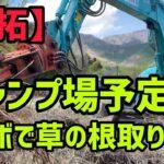 【開拓】キャンプ場予定地草の根取り作業!