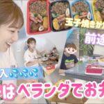 【夏休みランチ】今日はお弁当作ってベランダで食べました!