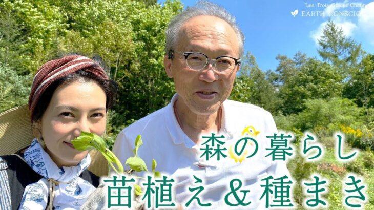 【森の暮らし】有機野菜収穫間近!土壌診断&苗植え、種まき